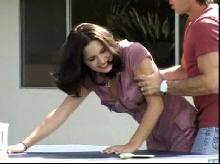 Spanking Videos - He spanks her in the back garden