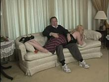 Spanking Videos - The spanking starts on top of her clothing