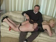 Spanking Videos - Demonstrating the use of the paddle