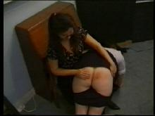 Natalie is first to get a sore bottom