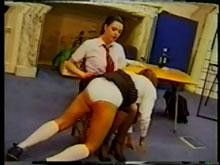 She is giving her first spanking