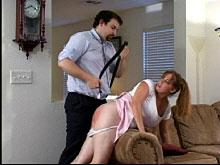 Spanking Videos - Will his belt make an impression?