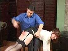 Spanking Videos - She finds herself over his knee again