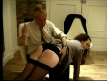 He does the spanking