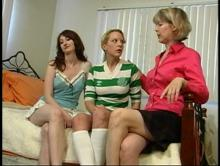 Amber introduces Kendra to her Aunt Gwen - which leads to Aunt Gwen Spanks Pixie and Kendra