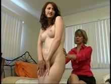 Aunt Gwen gives Kendra a physical examination in Aunt Gwen Spanks Pixie and Kendra