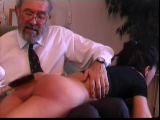 Spanking Videos - using the hairbrush on her bare bottom