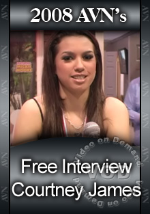 2008 AVN Interview - Courtney James Box Cover