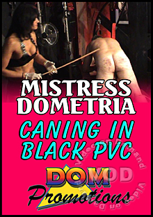 Mistress Dometria - Caning In Black PVC Box Cover