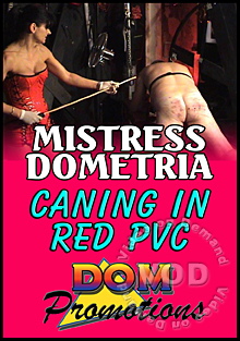 Mistress Dometria - Caning in Red PVC Box Cover