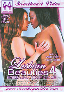 Lesbian Beauties 4 - Interracial Ebony & Ivory Box Cover