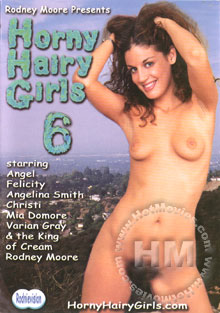 Horny Hairy Girls 6 Box Cover