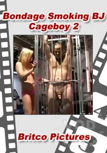 Bondage Smoking BJ Cageboy 2 Box Cover