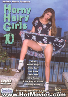 Horny Hairy Girls 10 Box Cover