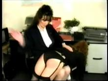 The spanking starts -- big bottom girls caned