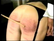 Now for the cane because big bottom girls caned