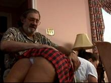 The spanking begins