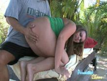 He is spanking her naughty bottom