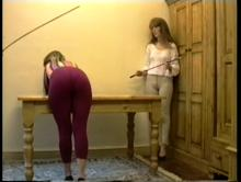 Can she take the cane?