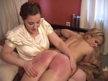 A very sore bottom after her first time spanking