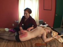 Her first time spanking hurt more than she thought it would