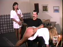 Adrian takes over spanking Kristen on punishment day