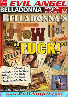 Belladonna's How To: Fuck! (Disc 1) Box Cover